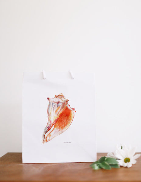 Giant Conch Shell Gift Bag - Falling Leaf Card Co.