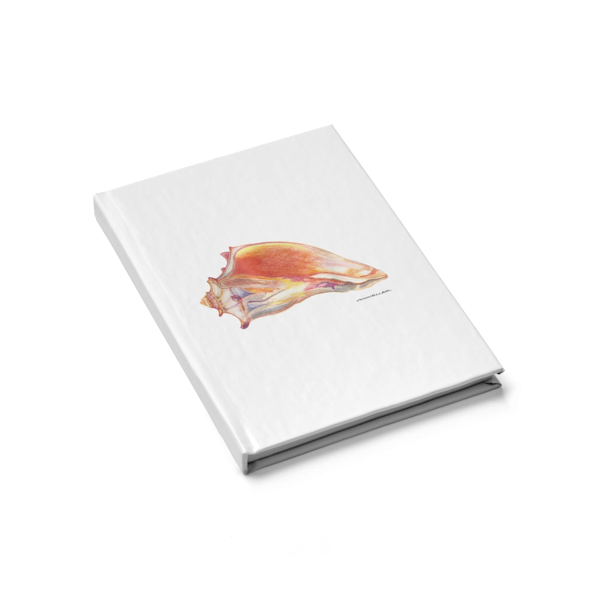 Journal - Conch Shell - Blue - Falling Leaf Card Co.