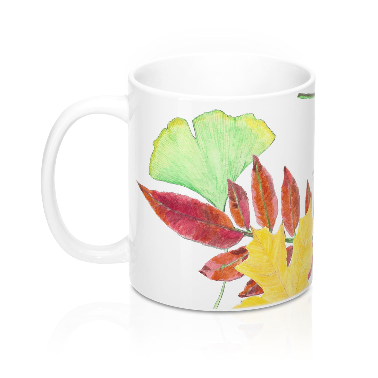 Coffee Mug - Three Fall Leaves - Falling Leaf Card Co.