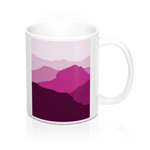 Coffee Mug - Red Mountain Scene - Falling Leaf Card Co.