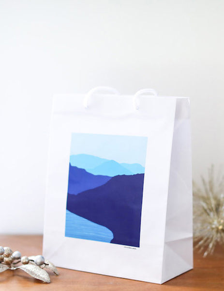 Blue Mountain Lake Gift Bag - Falling Leaf Card Co.