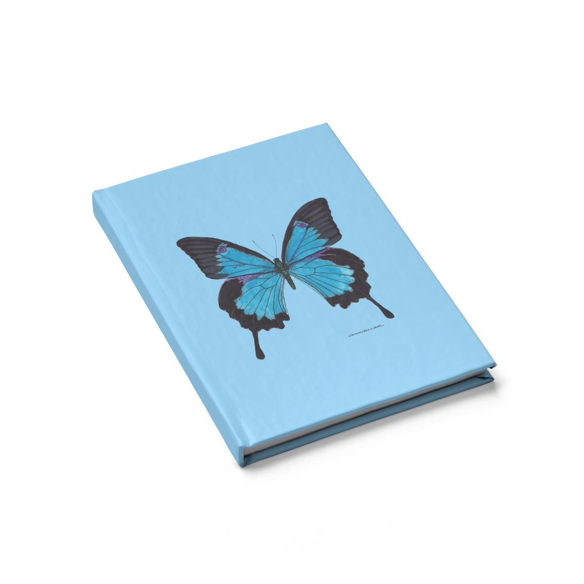 Journal - Blue Butterfly - Magenta - Falling Leaf Card Co.