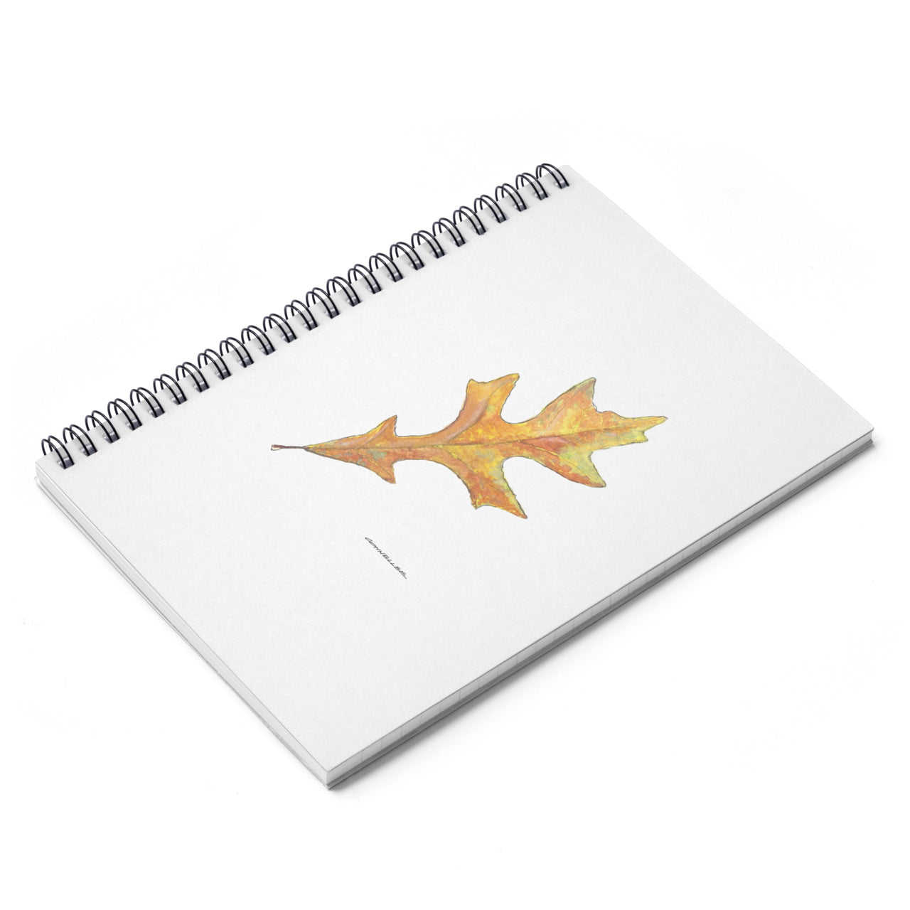 Journal - Oak Leaf Spiral Notebook - Ruled Line - Falling Leaf Card Co.