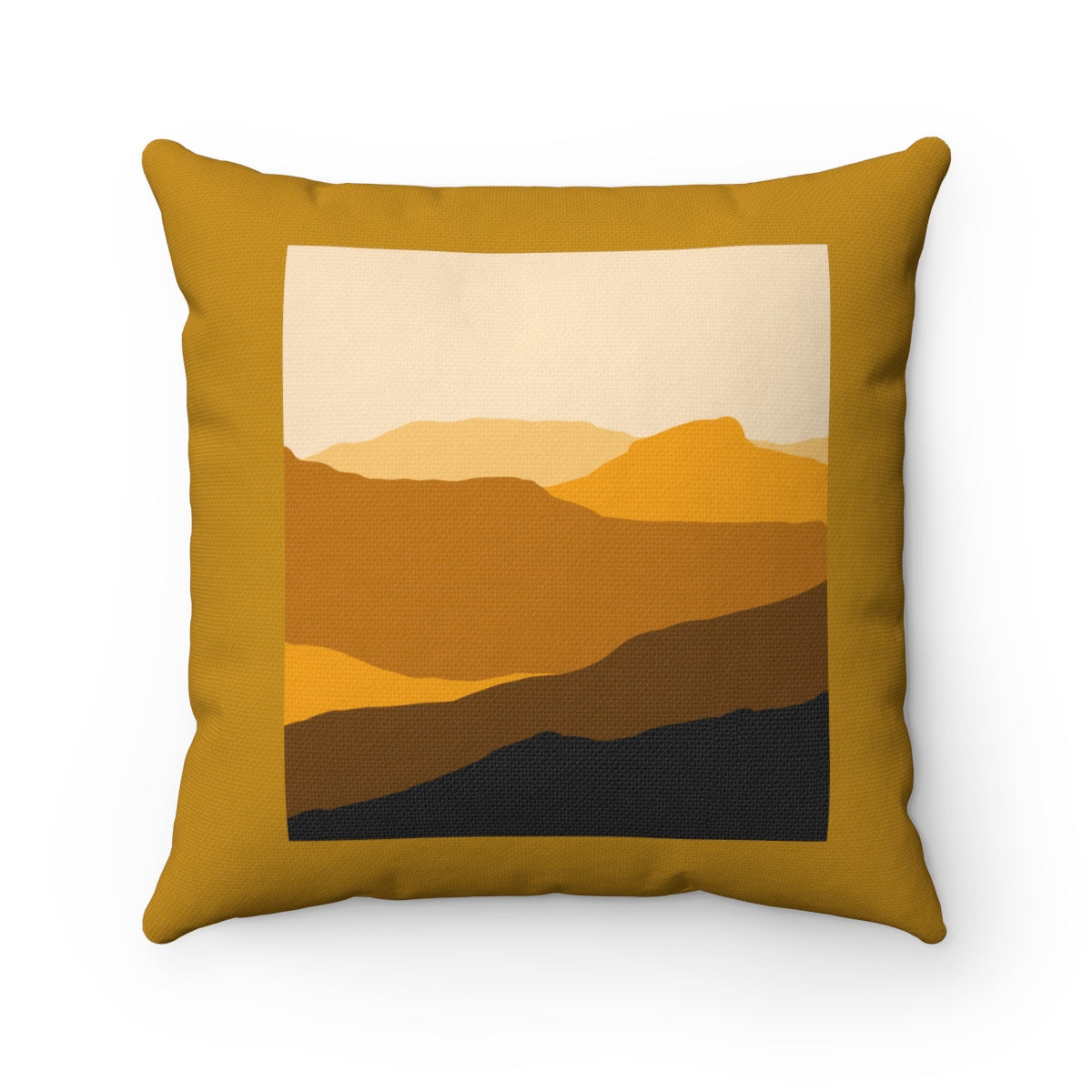 Pillow - Sand Hills - Brown Spun Polyester Square Pillow - Falling Leaf Card Co.