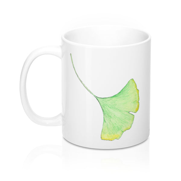 Coffee Mug - Gingko Leaves - Falling Leaf Card Co.