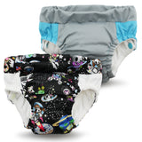 TurtleDiapers.com: Kanga Care Lil Learnerz Training Pants - TokiSpace & Platinum - Rumparooz