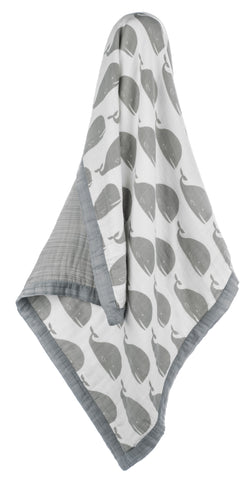 Milkbarn Bamboo Large Lovey - Grey Whale
