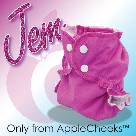 AppleCheeks Envelope Diaper Cover Size 2 - Jem