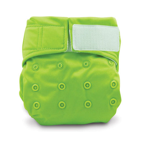 TurtleDiapers.com: Bumkins Snap in One Velcro Cloth Diaper - Green - Bumkins