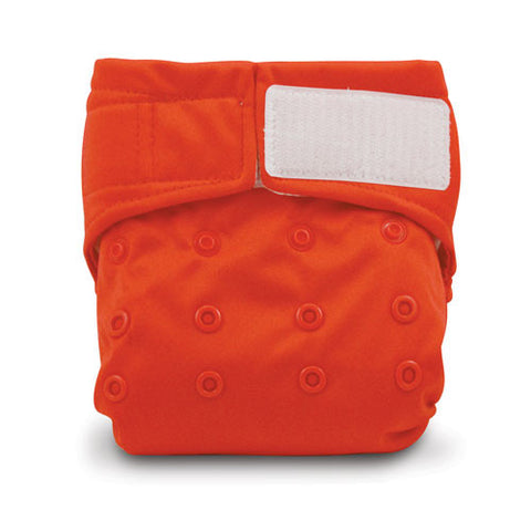 TurtleDiapers.com: Bumkins Snap in One Velcro Cloth Diaper - Red - Bumkins