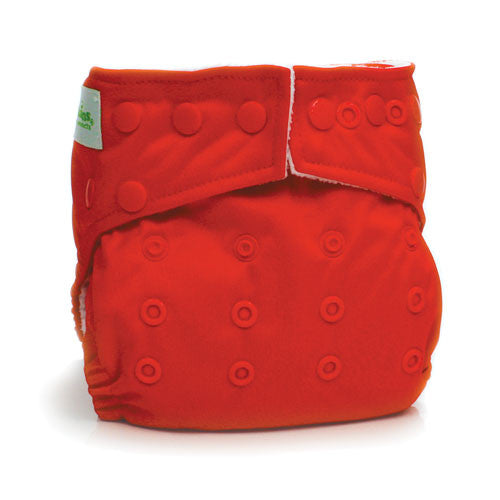 Bumkins Snap in One Cloth Diaper - Red