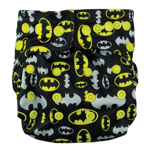 TurtleDiapers.com: Bumkins DC Comics Snap in One Cloth Diaper - Batman - Bumkins