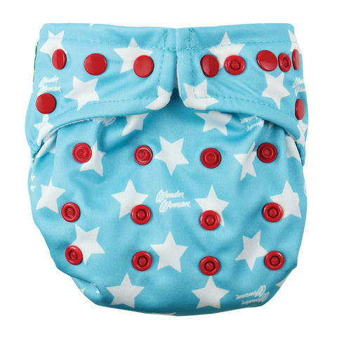 TurtleDiapers.com: Bumkins DC Comics Snap in One Cloth Diaper - WonderWoman - Bumkins