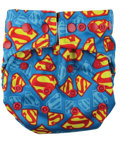 Bumkins DC Comics Snap in One Cloth Diaper - Superman