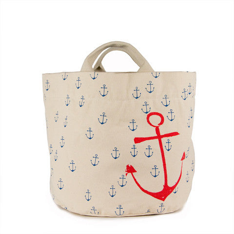 TurtleDiapers.com: Tote Bag & Storage Bin, Anchors / Small - Fluf