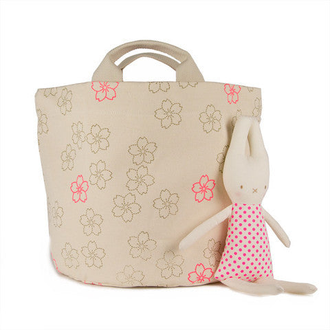 TurtleDiapers.com: Tote Bag & Storage Bin, Cherry Blossom / Small - Fluf