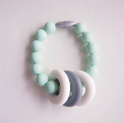 TurtleDiapers.com: Changeable Chewables Teether Bracelet - Mint - Changeable Chewables