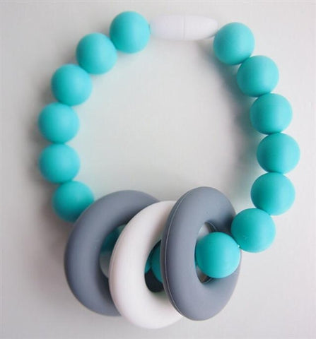 TurtleDiapers.com: Changeable Chewables Teether Bracelet - Turquoise - Changeable Chewables