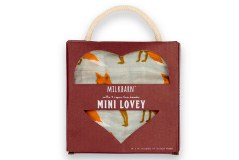 TurtleDiapers.com: Milkbarn Mini Lovey - Fox - Milkbarn