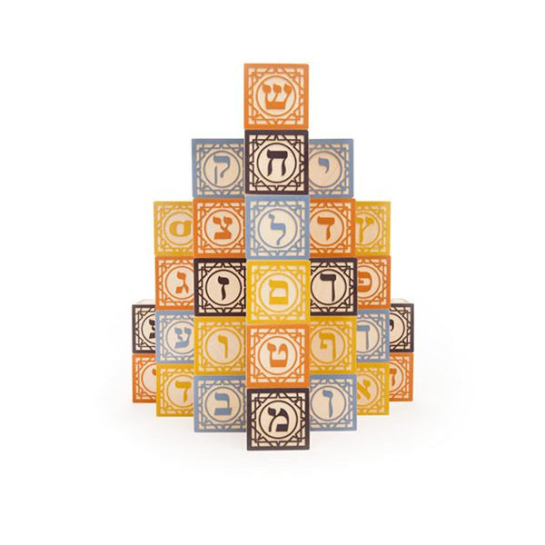 Uncle Goose Hebrew Blocks - 28 Block Set