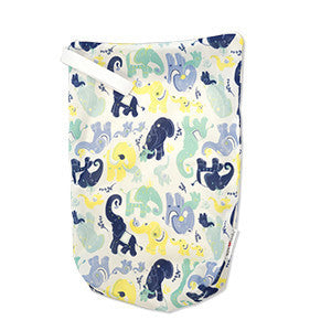 TurtleDiapers.com: AppleCheeks Zippered Storage Sack Size One - Irrelephant - AppleCheeks