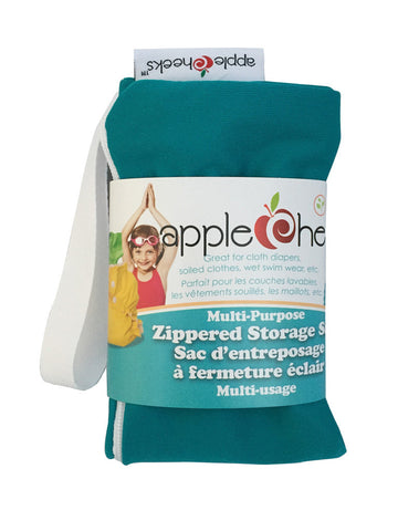AppleCheeks Zippered Storage Sack Size One - Kiss N Teal