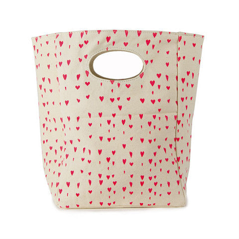 Organic Lunch Bag - Floating Hearts