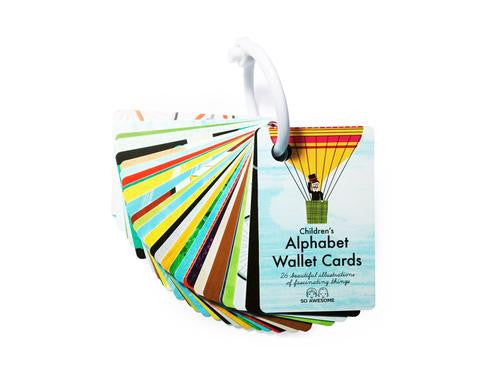 Children's Alphabet Wallet Cards