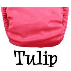 TurtleDiapers.com: Bottombumpers Size 1 Aplix Cloth Diaper - Tulip - Bottombumpers