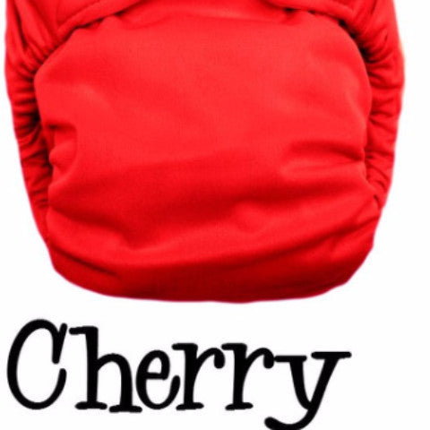 Bottombumpers Size 1 Aplix Cloth Diaper - Cherry