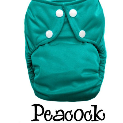 Bottombumpers Size 2 Front Snap Cloth Diaper - Peacock