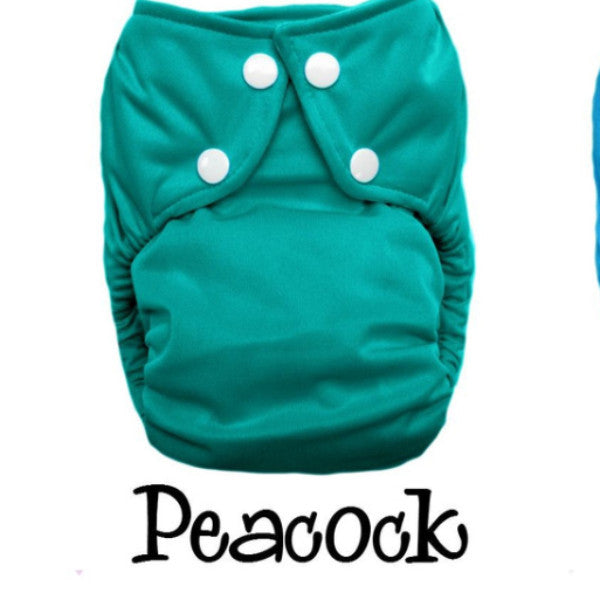Bottombumpers Size 1 Front Snap Cloth Diaper - Peacock