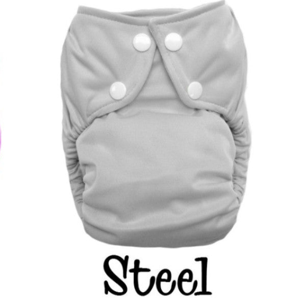 Bottombumpers Size 1 Front Snap Cloth Diaper - Steel