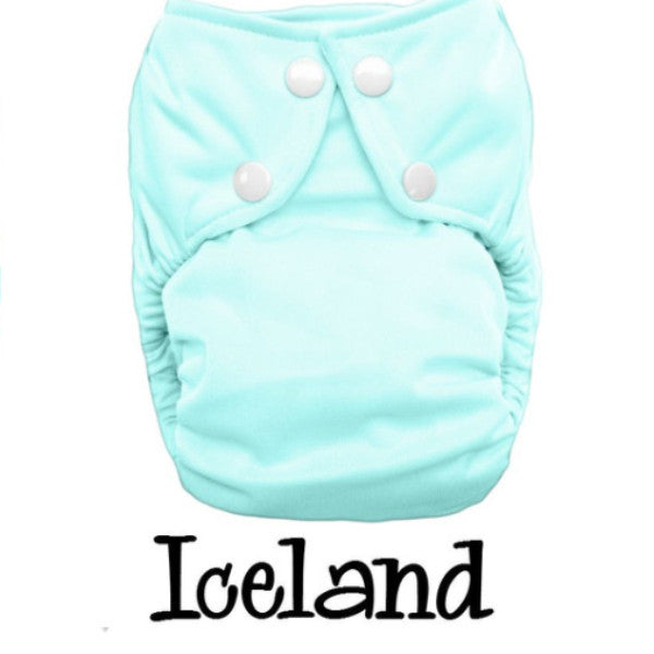 Bottombumpers Size 1 Front Snap Cloth Diaper - Iceland