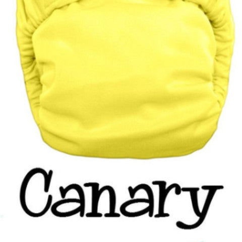 TurtleDiapers.com: Bottombumpers Size 1 Aplix Cloth Diaper - Canary - Bottombumpers