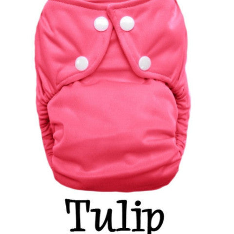 TurtleDiapers.com: Bottombumpers Size 2 Front Snap Cloth Diaper - Tulip - Bottombumpers
