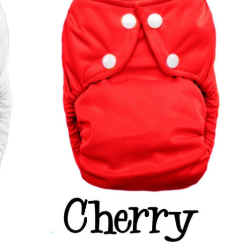 TurtleDiapers.com: Bottombumpers Size 2 Front Snap Cloth Diaper - Cherry - Bottombumpers