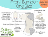 Bottombumpers One Size Snap Cloth Diaper - Skating