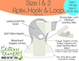 Bottombumpers Size 2 Aplix Cloth Diaper - Ahoy
