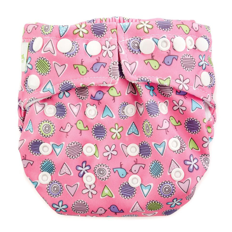 Bumkins Snap in One Cloth Diaper - Love Birds