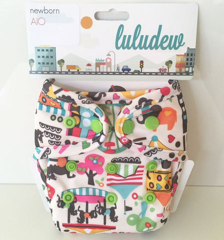 Luludew Newborn All in One Cloth Diaper - Circus