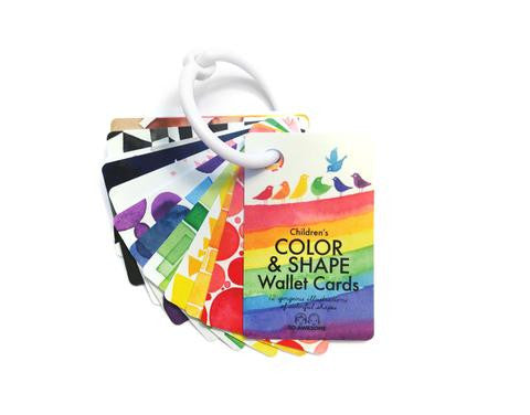 Children's Color & Shape Wallet Cards