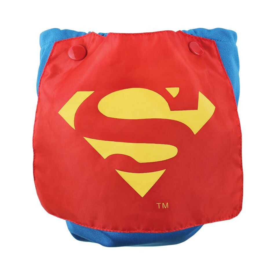 TurtleDiapers.com: Bumkins DC Comics Snap in One Cloth Diaper with Cape - SuperMan - Bumkins