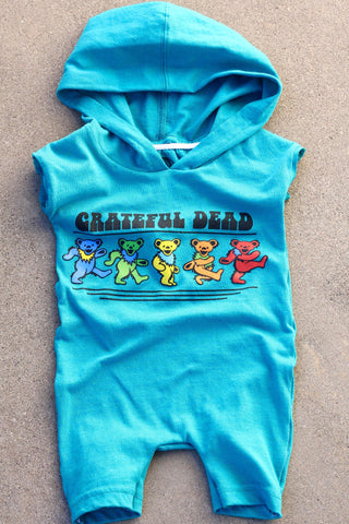 TurtleDiapers.com: Upcycled Kids Grateful Dead Romper - Up-Cycled Kids
