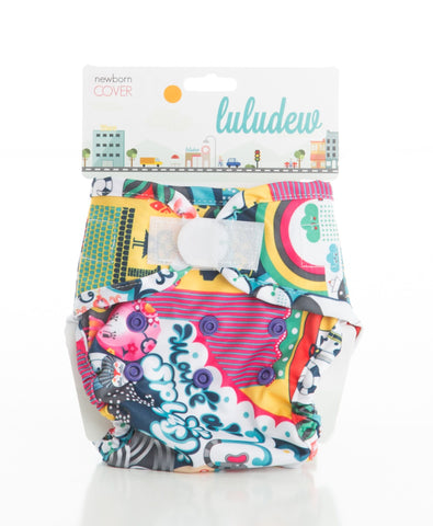 TurtleDiapers.com: Luludew Newborn Hook and Loop Cloth Diaper Cover - Lucy - Luludew