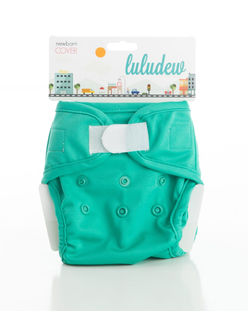 TurtleDiapers.com: Luludew Newborn Hook and Loop Cloth Diaper Cover - Kelly - Luludew