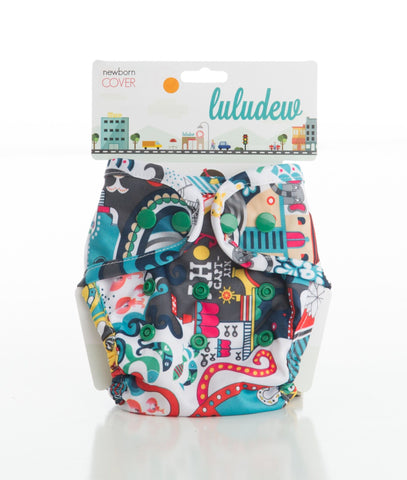 TurtleDiapers.com: Luludew Newborn Snap Cloth Diaper Cover - Lucy - Luludew