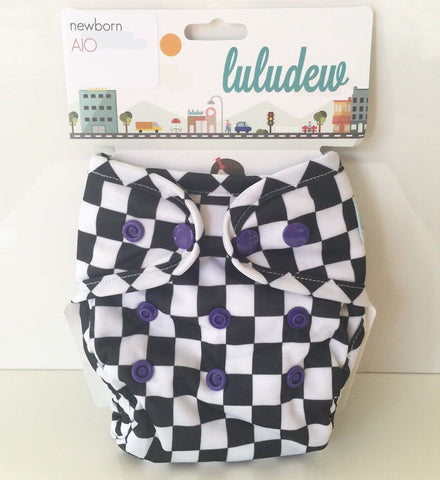 Luludew Newborn All in One Cloth Diaper - Race