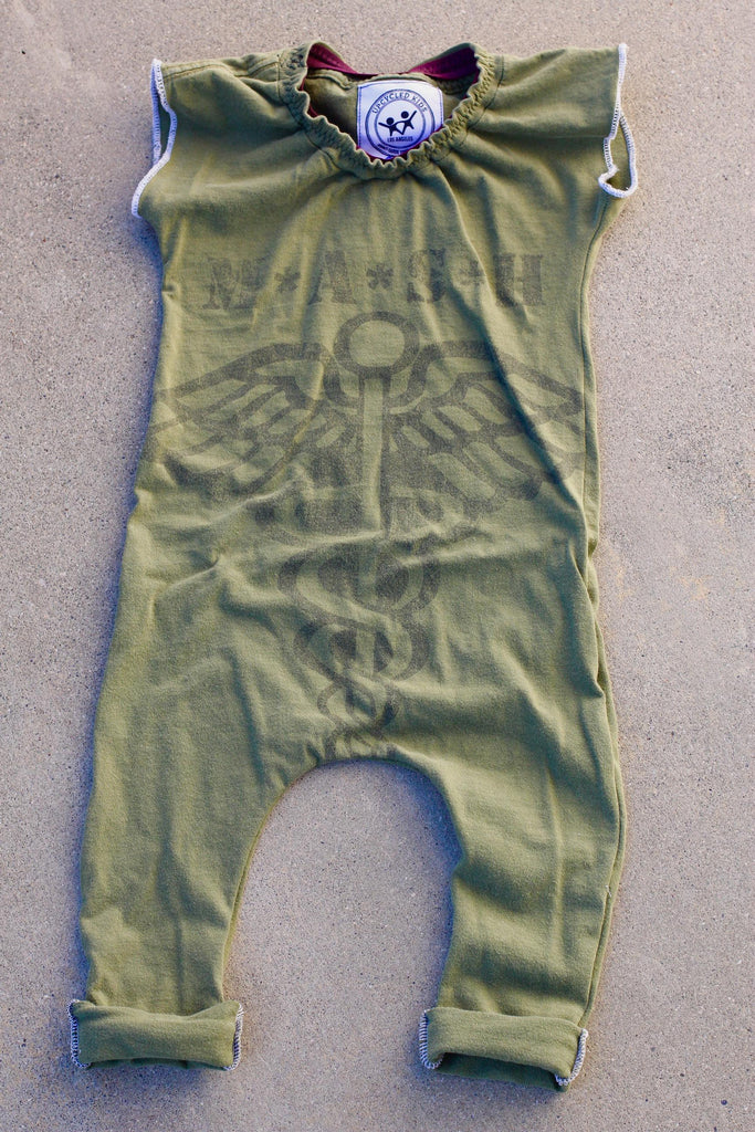 Upcycled Kids Mash Romper