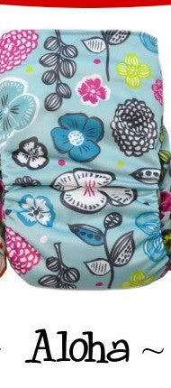 Bottombumpers Size 2 Aplix Cloth Diaper - Aloha